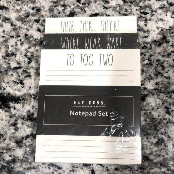 Rae Dunn - Notepad Set